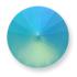 Custom Pastel Effect on Swarovski 1122 Light Turquoise