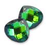 12991 German-made Glass Briolette Aqua Green Sphinx*