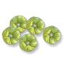 13084 German-made Glass Flat Flower Bead Olivene AB