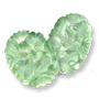 13123 German-made Engraved Cabochon Flower Motif Peridot