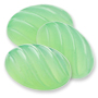 13134 German-made Glass Cabochon Oval Fluted Light Green Opal