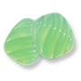 13135 German-made Glass Cabochon Cushion Fluted Light Green Opal