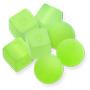 13225/13224 Lucite Bon Bon Beads Lime Matt