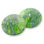 202 German-made Glass Cabochon Olivene/Silver