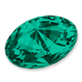 4122 Swarovski Oval Rivoli Fancy Stone Emerald (205)