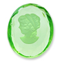 6448 German-made Glass Cameo-Etching Peridot