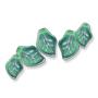 9359 German Glass Engraved Leaf Bead Emerald (205) Purple Haze*