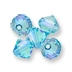 Swarovski Light Turquoise Shimmer 2x on 5328