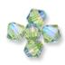Swarovski Peridot Shimmer 2x on 5328