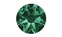 Swarovski 2088 XIRIUS Rose Flat Back Emerald