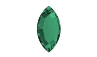 Swarovski 2200 Navette Flat Back Emerald