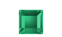 Swarovski 2400 Square Flat Back Emerald