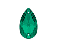 Swarovski 3230 Drop Sew-on Stone Emerald