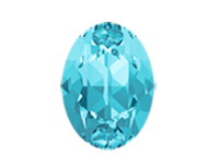 Swarovski 4120 Oval Fancy Stone Aqua