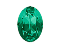 Swarovski 4120 Oval Fancy Stone Emerald