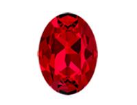 Swarovski 4120 Oval Fancy Stone Scarlet