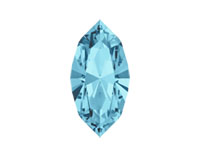 Swarovski 4228 XILION Navette Fancy Stone Aqua