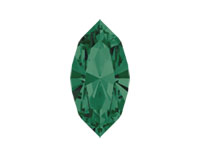 Swarovski 4228 XILION Navette Fancy Stone Emerald