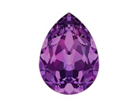 Swarovski 4320 Pear Fancy Stone Amethyst