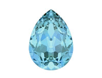 Swarovski 4320 Pear Fancy Stone Aqua
