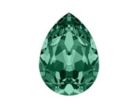 Swarovski 4320 Pear Fancy Stone Emerald