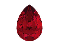 Swarovski 4320 Pear Fancy Stone Scarlet