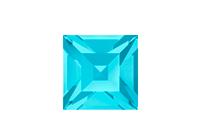 Swarovski 4428 XILION Square Fancy Stone Aqua