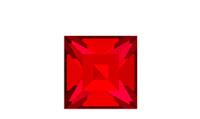 Swarovski 4428 XILION Square Fancy Stone Scarlet