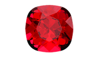 Swarovski 4470 Square Antique Fancy Stone Scarlet