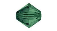 Swarovski 5328 XILION Bi-Cone Bead Emerald