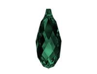 Swarovski 6010 Briolette Pendant Emerald