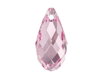 NEW! Swarovski 6010 Briolette Pendant Light Rose
