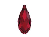 Swarovski 6010 Briolette Pendant Scarlet