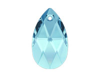 Swarovski 6106 Pear-shaped Pendant Aqua