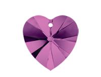 Swarovski 6228 XILION Heart Pendant Amethyst