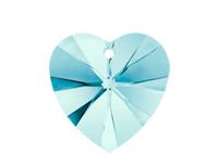 Swarovski 6228 XILION Heart Pendant Aqua