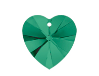 Swarovski 6228 XILION Heart Pendant Emerald