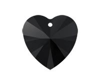 Swarovski 6228 XILION Heart Pendant Jet