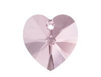 NEW! Swarovski 6228 XILION Heart Pendant Light Rose