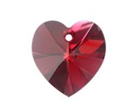 Swarovski 6228 XILION Heart Pendant Scarlet