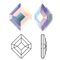 New! Swarovski 2777 Concise Hexagon Flat Back