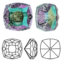 New! Swarovski 4460 Mystic Square Fancy Stone
