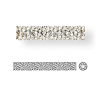 Swarovski 5950 Fine Rocks Tube Bead with end