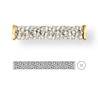 Swarovski 5950 5951 Fine Rocks Tube Bead