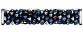 Swarovski 5950 Crystal Bermuda Blue Steel Fine Rocks Tube with ending
