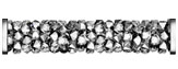 Swarovski 5950 Crystal Light Chrome Steel Fine Rocks Tube with ending