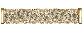 Swarovski 5950 Crystal Golden Shadow Gold Fine Rocks Tube with ending