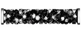 Swarovski 5950 Jet Crystal Metallic Silver Multi Steel Fine Rocks Tube with ending