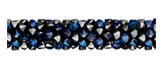 Swarovski 5951 Crystal Bermuda Blue Fine Rocks Tube
