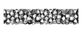 Swarovski 5951 Crystal Light Chrome Fine Rocks Tube